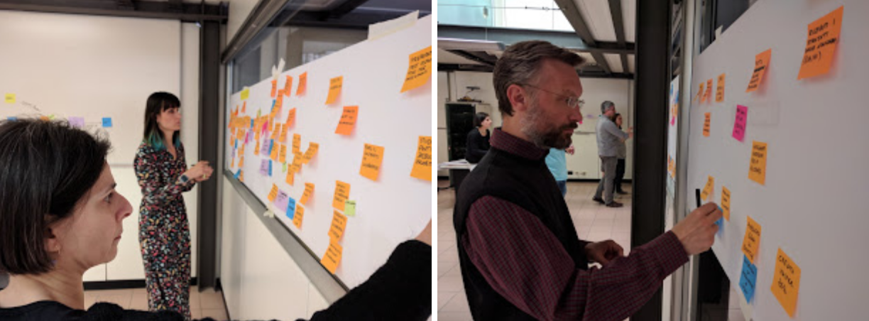 People participating in Jacopo's eventstorming workshops